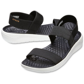 Crocs LiteRide Sandals Damen black/white